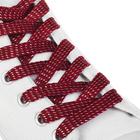 Шнурки с плоским сечением, 8мм, 110см, пара, цвет коричневый