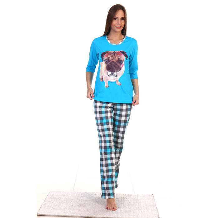 Пижама женская (джемпер, брюки), цвет МИКС, р-р 58