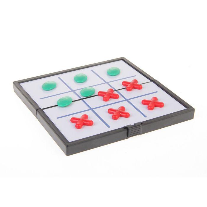 Игра туристическая крестики-нолики магнитные цветные 13*13 см