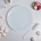Блюдо 30 см с лопаткой, цвет белый, подарочная упаковка