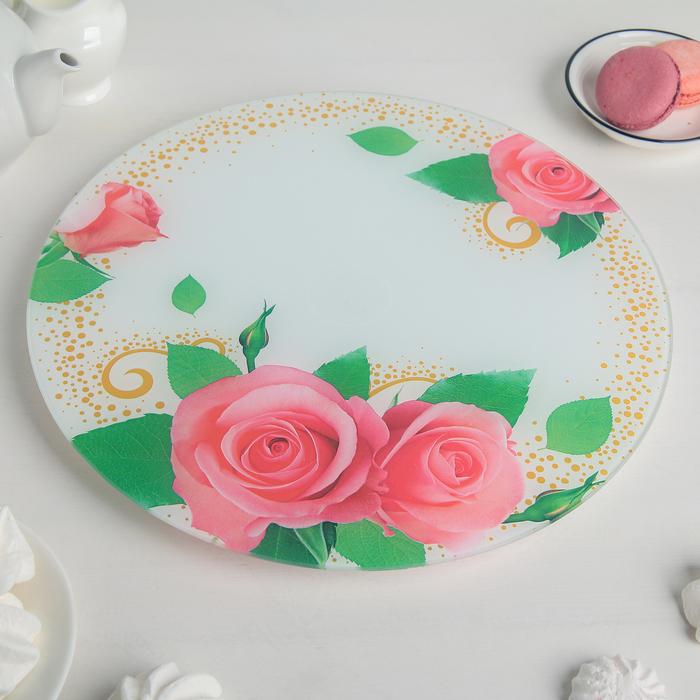 """Блюдо вращающееся для торта d=30 см """"Роза"""""""