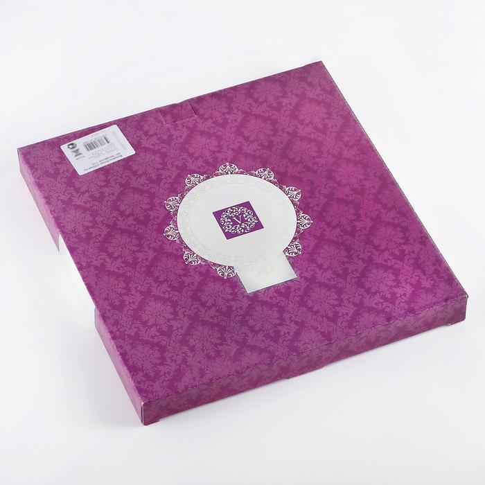 "Этажерка 2-ярусная 24х30 см ""Марокко"", цвет бежевый, подарочная упаковка"
