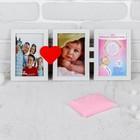 """Набор для создания слепка ручки, ножки малыша """"Мама+папа=малыш"""", 50 гр, цвет массы розовый"""