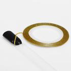 """Лента фольгированная клеевая для ногтей """"Блёстки"""", 0,1см, 10м, цвет золотой"""