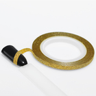 """Лента фольгированная клеевая для ногтей """"Блёстки"""", 0,3см, 10м, цвет золотой"""