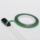 "Adhesive tape for decoration nail ""Glitter"", 0.3 cm, 10 m, green"