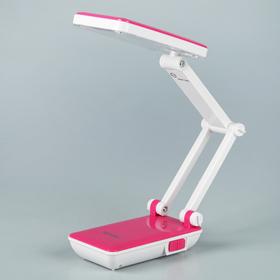 Лампа настольная складная LEDх24 АКБ  'Трансформер' розовая 13,5х6х7,5 см Ош