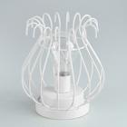 """Лампа настольная лофт """"Окури"""" белая от батареек 3xАА 16,5х15х15 см"""