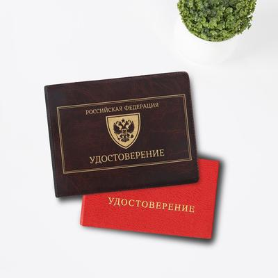 """Cover identity """"Emblem of Russia"""", faux leather"""