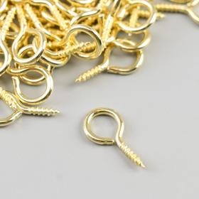 Screw-hole for mounting paintings, fotoram gold (set 100 PCs) 1.8x0.9 cm