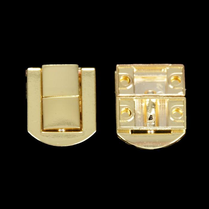 "Замок металл для шкатулки ""Стиль"" золото (набор 2 шт) 2,3х2 см"