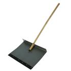 Лопата оцинкованная, ковш 500 × 600 мм, однобортная, с планкой, деревянный черенок