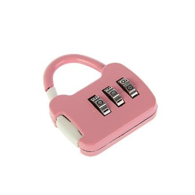 Замок навесной кодовый, Type 8, розовый