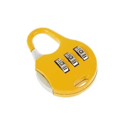 Замок навесной кодовый, Type 3, желтый