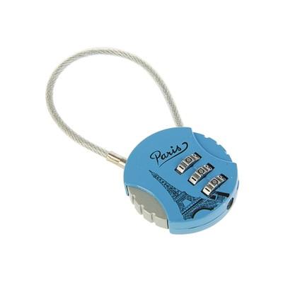 Замок навесной кодовый, Type 16, синий