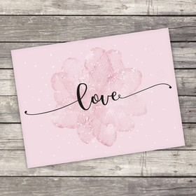Открытка-комплимент Love, 8 × 6см Ош