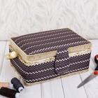"Box for needlework ""Zigzag chocolate"" 9,5x19,5х13 cm"