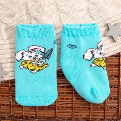 Носки детские плюшевые 8C942 цвет голубой, размер 12-14