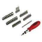 Отвертка с битами Top Tools, набор 52 шт., с реверсом, адаптер в комплекте