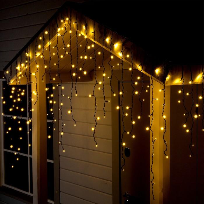 "Гирлянда ""Бахрома"" уличная, УМС, 3 х 0.9 м, 3W LED-232-220V, свечение тёплое белое"