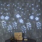 """Гирлянда """"Бахрома"""", 2.4 х 0.9 м, """"Олень"""", LED-138-220V, 8 режимов, нить прозрачная, свечение белое"""