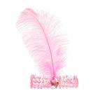 Повязка на голову с пером, цвет розовый