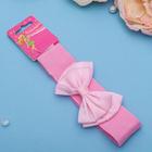 """Повязка для волос """"Модница"""" 3 см, розовая, атласный бант"""