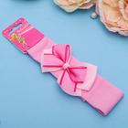 """Повязка для волос """"Модница"""" 3 см, розовая, бант сеточка"""