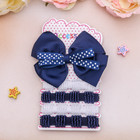 """Set of hair """"baby"""" blue (4 erasers, 1 clip) white dots"""