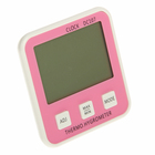 Термометр электронный с гигрометром (DC107), 1 AAA (нет в комплекте), розовый