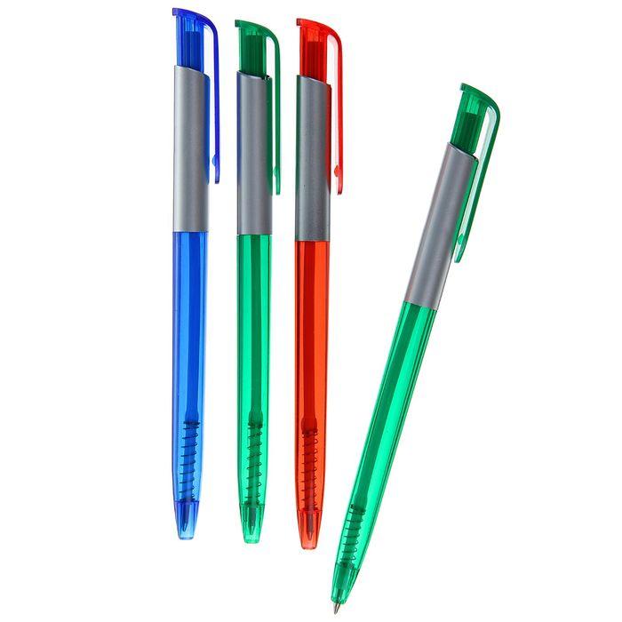Ручка шариковая автоматическая корпус МИКС, стержень синий