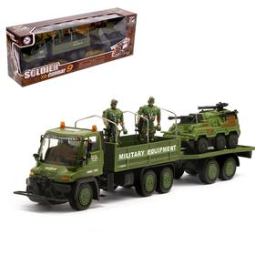 Грузовик инерционный «Военный спецназ», с солдатами и техникой