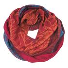Палантин-труба текстильный, размер 70х90, цвет красный SN1657_05