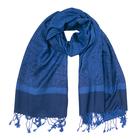 Палантин текстильный, размер 70х180, цвет синий P1820_018-118