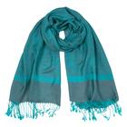 Палантин текстильный, размер 70х180, цвет бирюзовый P1820_018-230