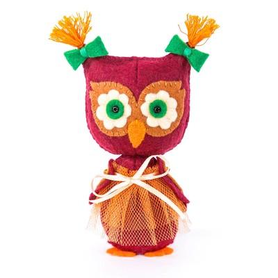 """Набор для изготовления игрушки из фетра """"Совушка"""", 12 см"""