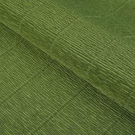 "Бумага гофрированная, ""Оливковый зелёный"" 17А/8, 0,5 х 2.5 м"