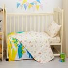 """Детское постельное бельё """"Колобок"""", размер 112х147, 60х120, 40х60 см, цвет жёлтый, хл100%, бязь 125 г/м C0115"""