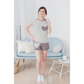 Комплект женский (футболка, шорты) ТК-441 цвет МИКС, р-р 46