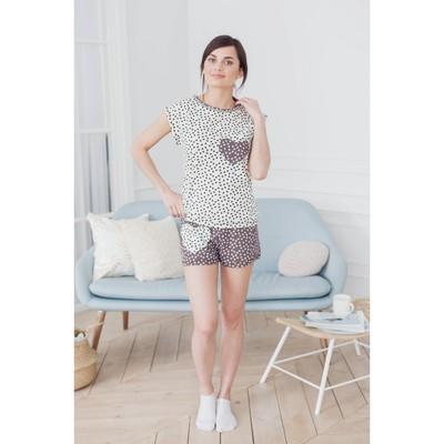 Комплект женский (футболка, шорты) ТК-441 МИКС, р-р 54