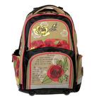 Рюкзак школьный эргономичная спинка для девочки Steiner 2-ST4 43*30*24 «Поцелуй розы» 2-ST4