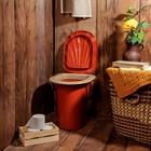 Ведро-туалет, 18 л, коричневый