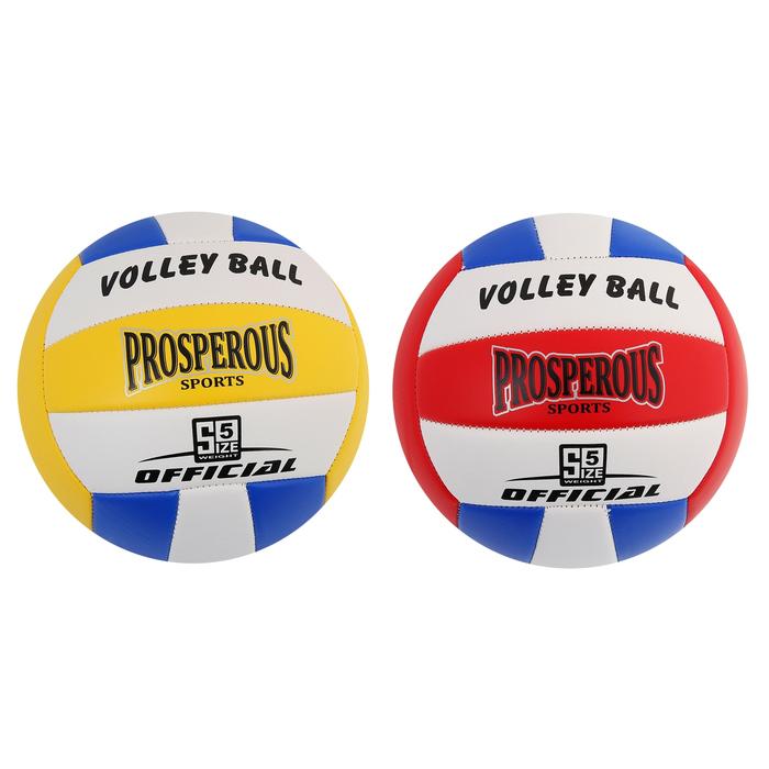 Мяч волейбольный Prosperous, 18 панелей, PU, машинная сшивка, размер 5, цвета микс