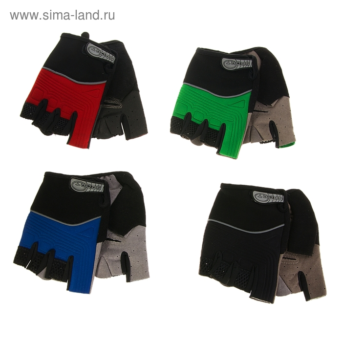 Перчатки для фитнеса, текстиль, замша, размер L, цвет МИКС