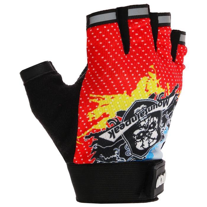 Перчатки для фитнеса, текстиль, размер M, цвет МИКС
