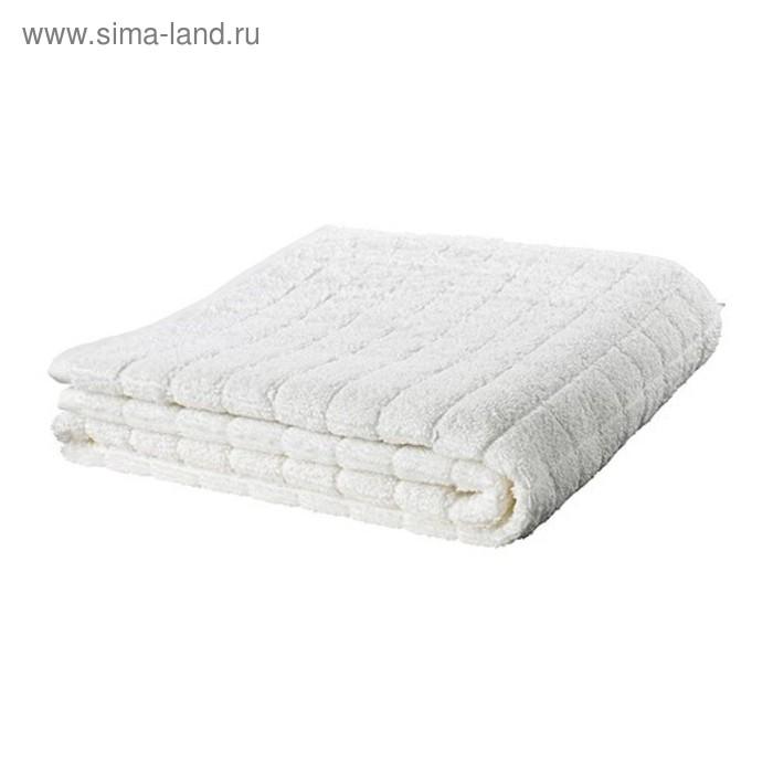 Полотенце махровое ОФЬЕРДЕН, размер 100х150 см, цвет белый