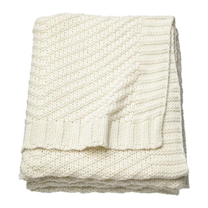 Плед ЭННИАНН, размер 130х170 см, цвет белый