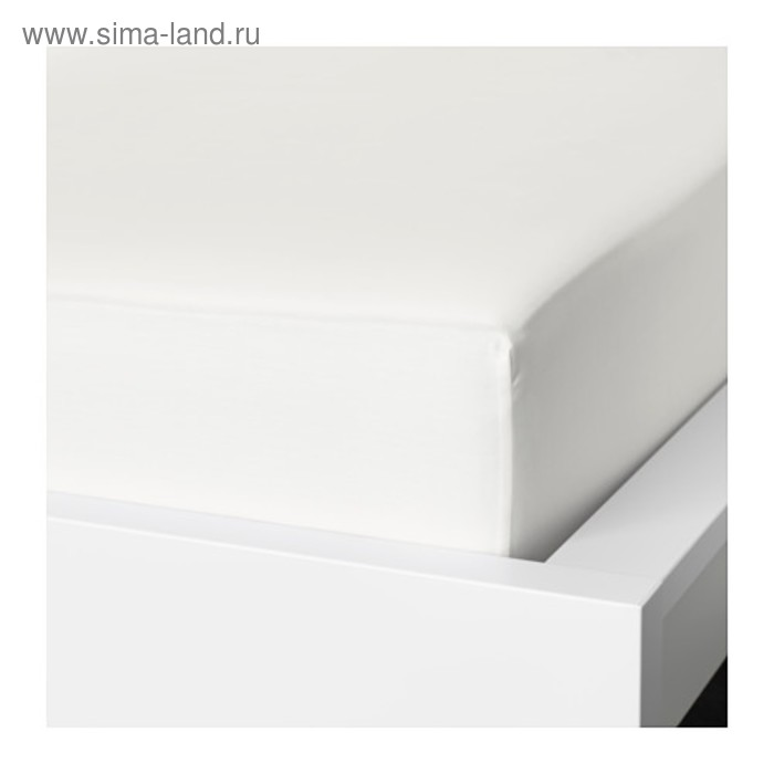Простыня на резинке НАТТЭСМИН, размер 140х200 см, цвет белый