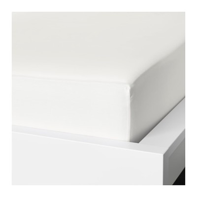 Простыня на резинке НАТТЭСМИН, размер 160х200 см, цвет белый