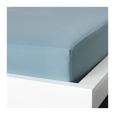 Простыня на резинке НАТТЭСМИН, размер 160х200 см, цвет синий